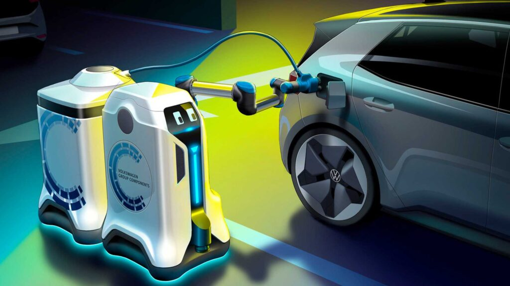 VW robot mobile charging