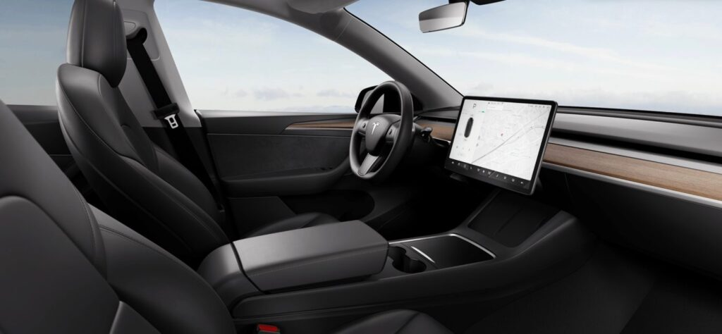 O νέος εσωτερικός διάκοσμος του Tesla Model Y