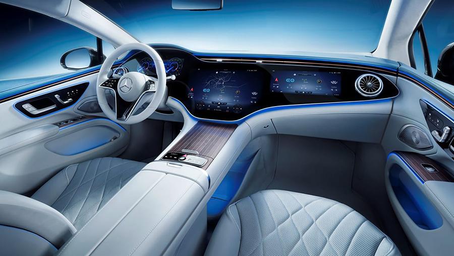 Το εσωτερικό της Mercedes EQS