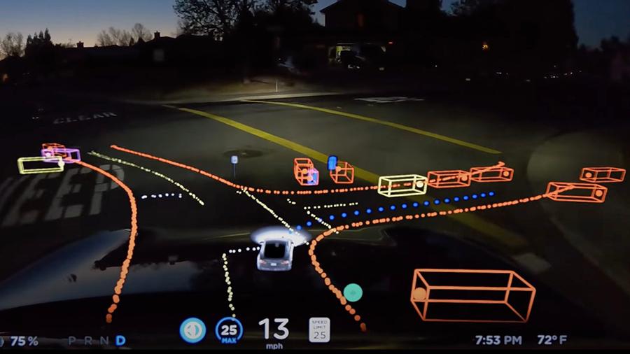 Tesla Αυτόνομη οδήγηση