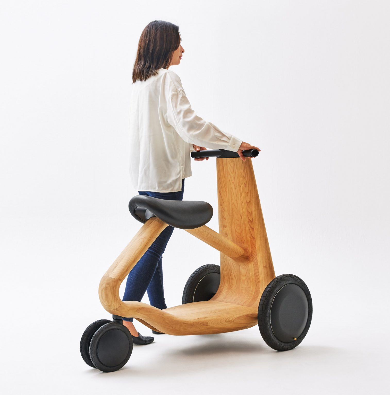 wooden e-scooter