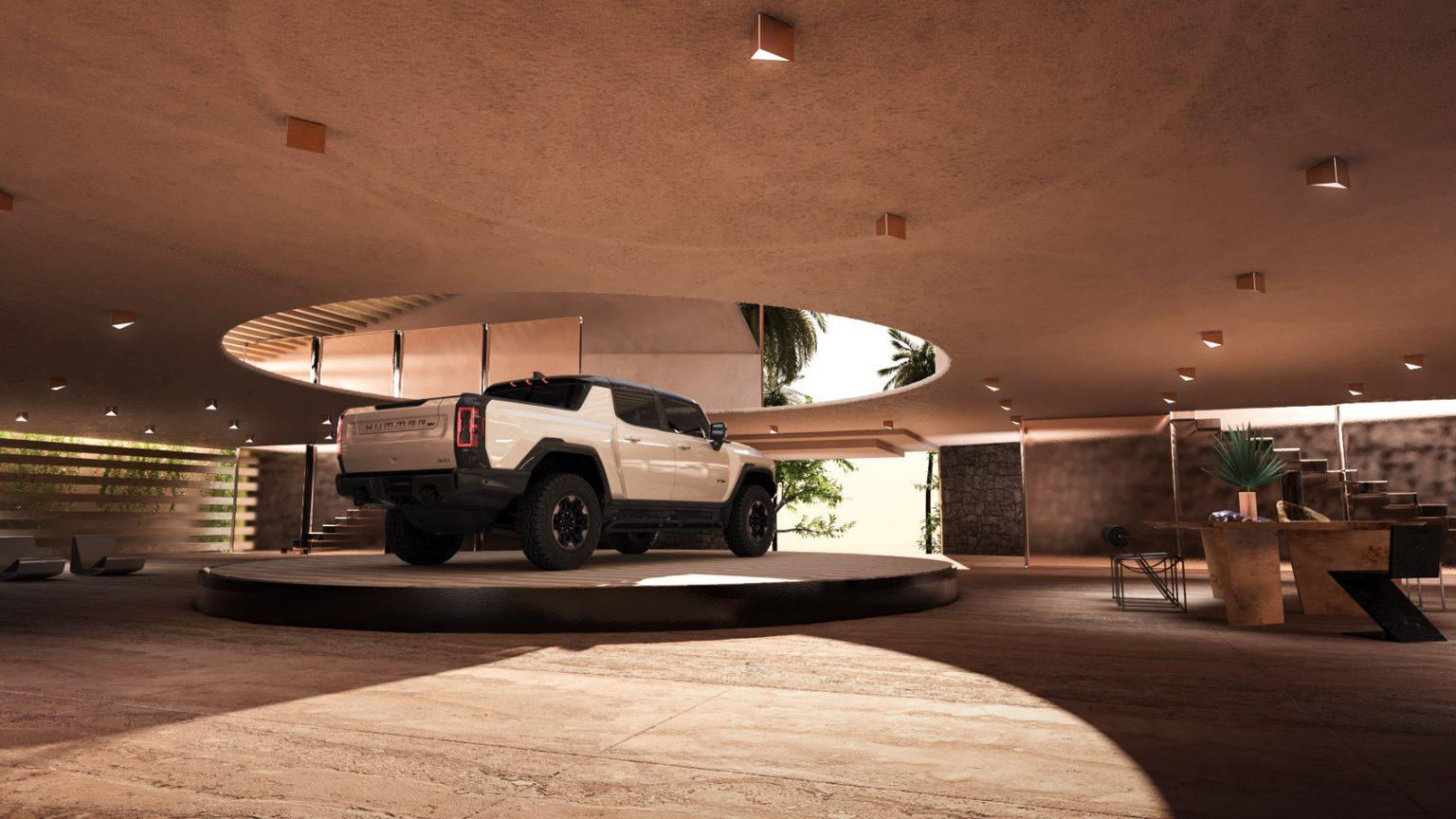 Car lift για το νέο ηλεκτρικό Hummer