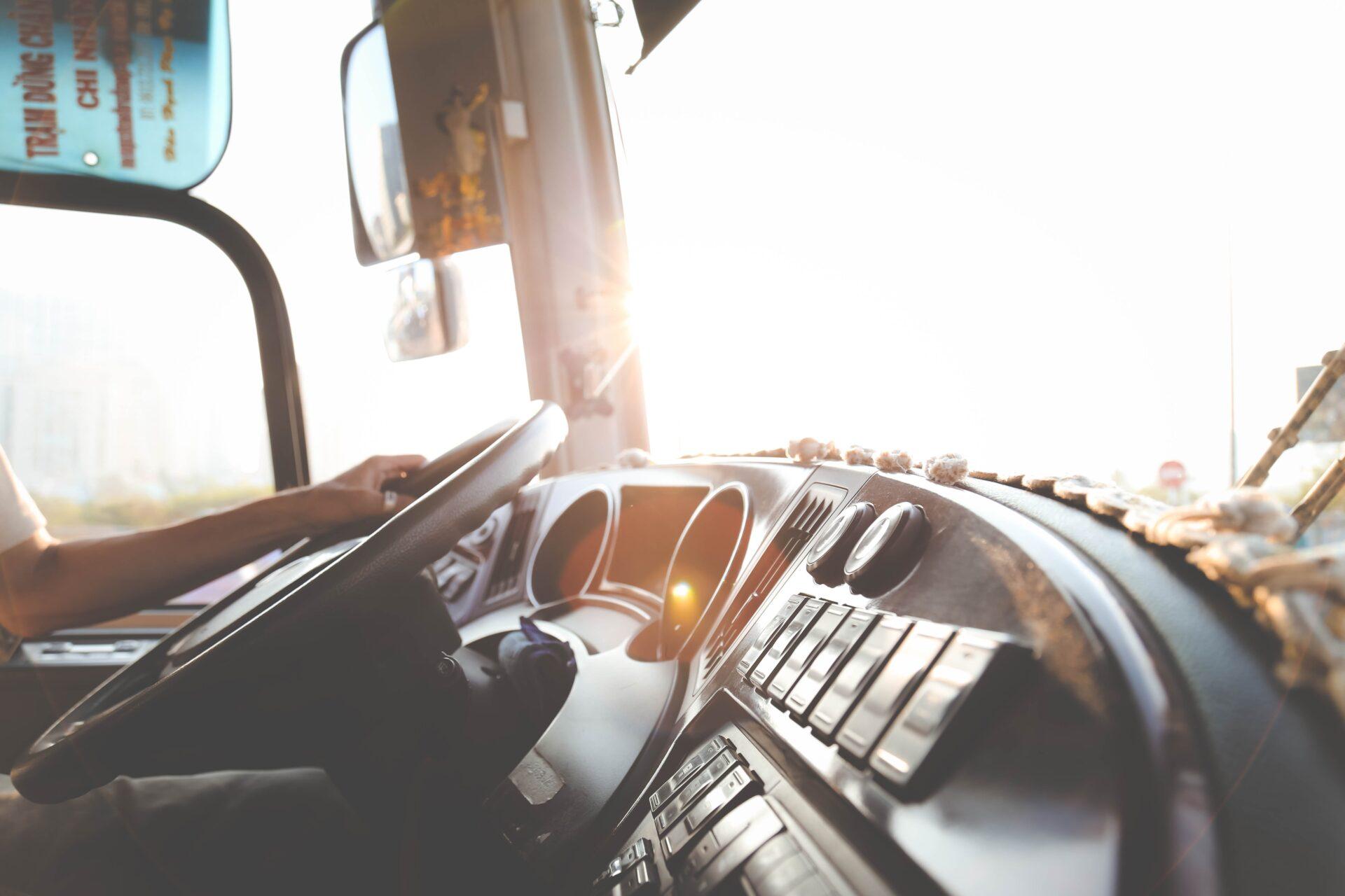 Inside of a truck