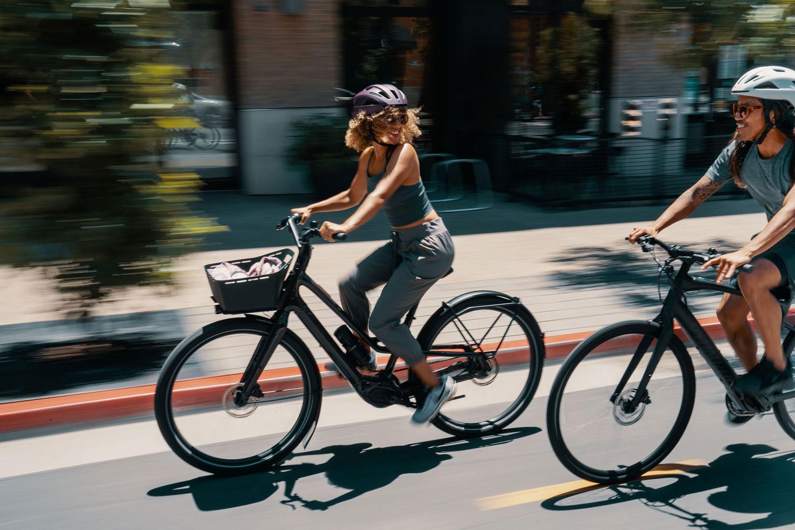 E-bikes in the city