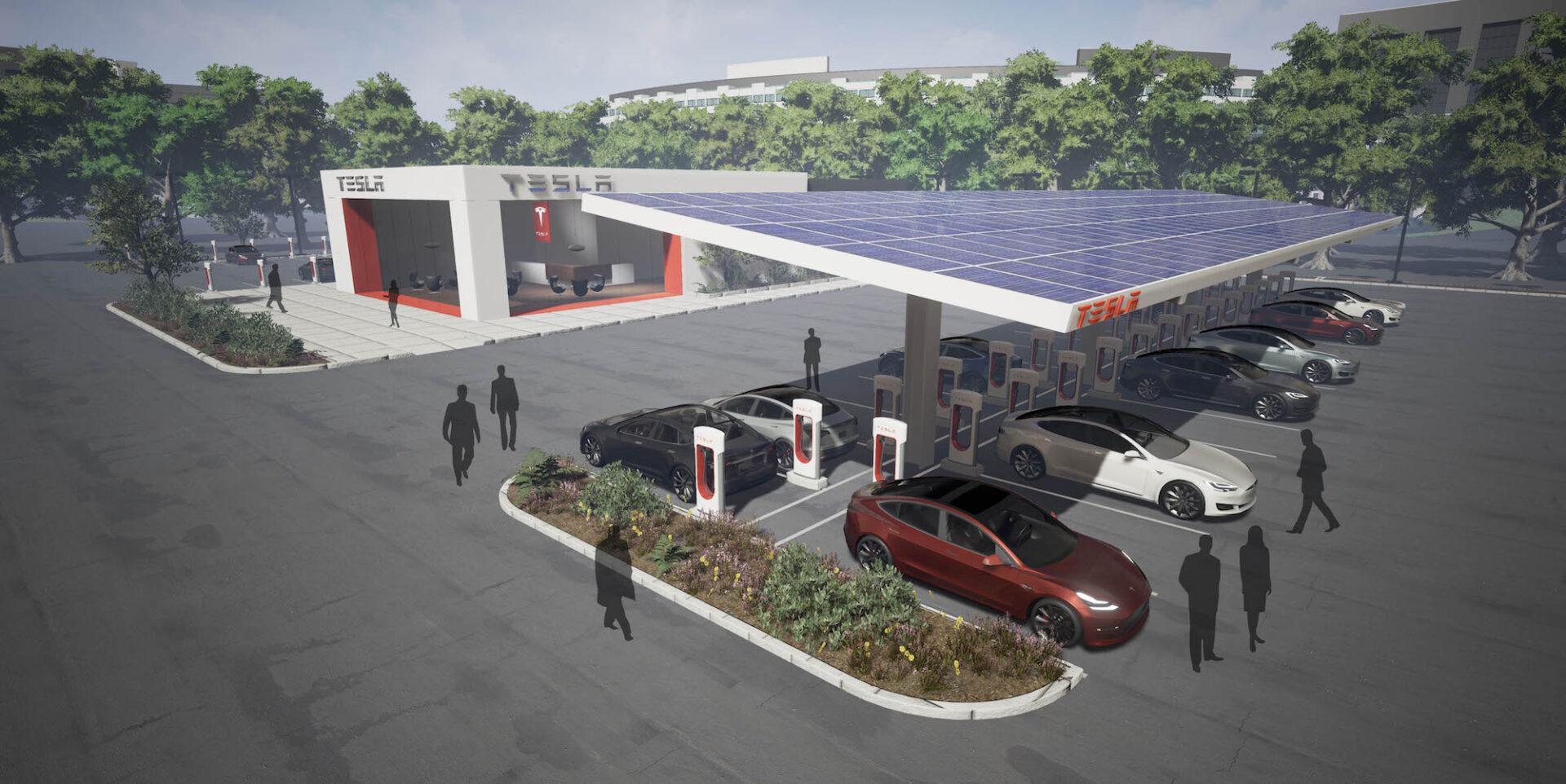 Tesla charging stations 2