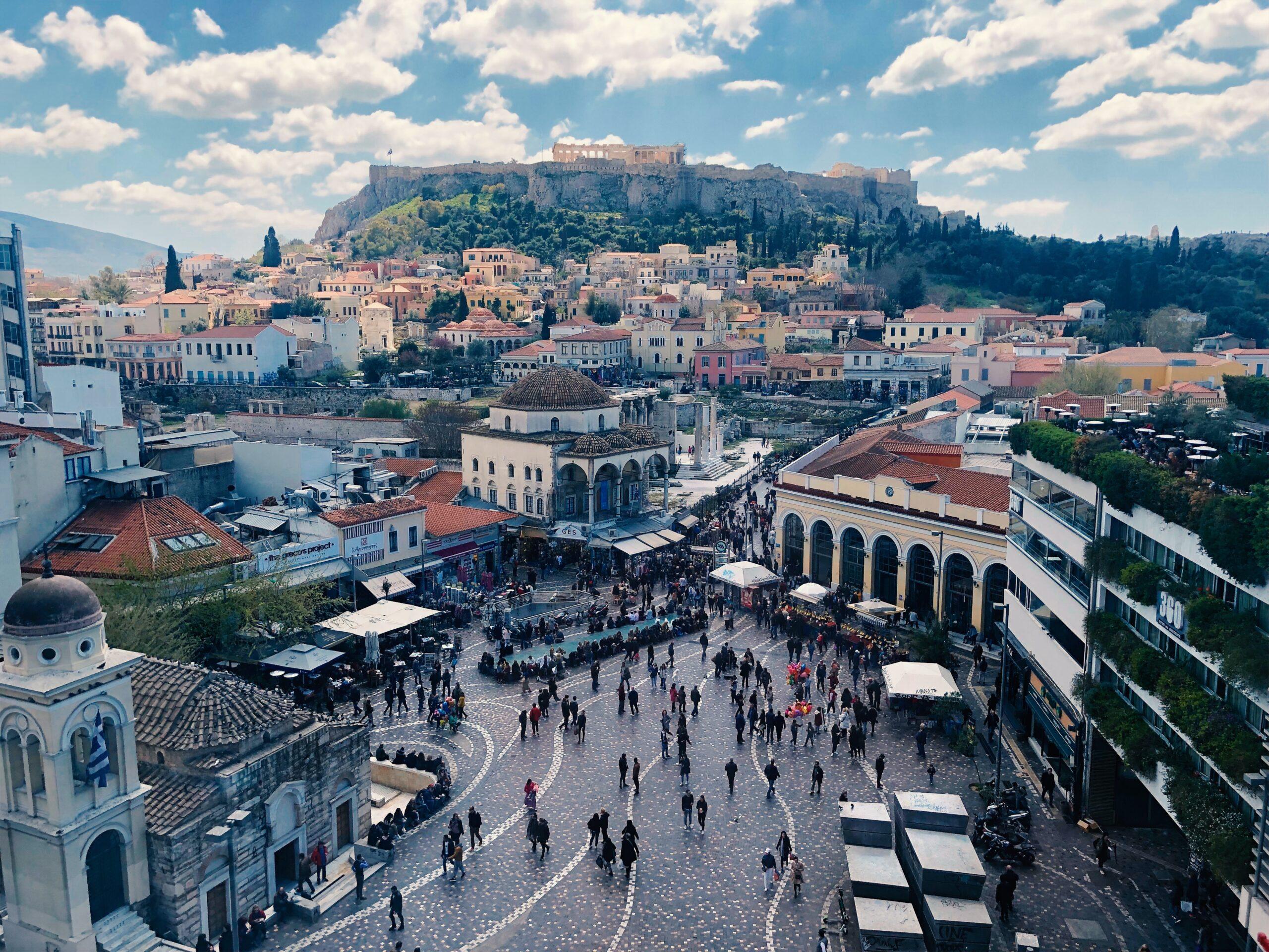 Το Μοναστηράκι στην Αθήνα από ψηλά