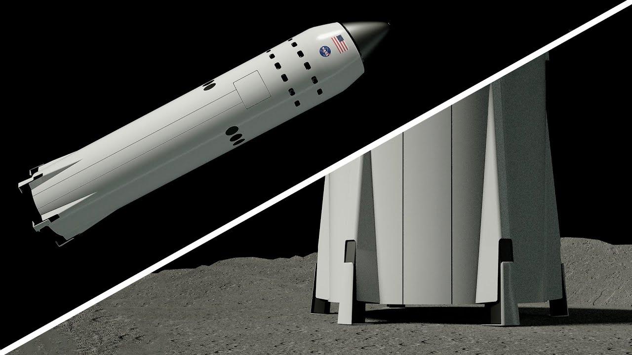 SpaceX's Lunar Lander (Starship SE