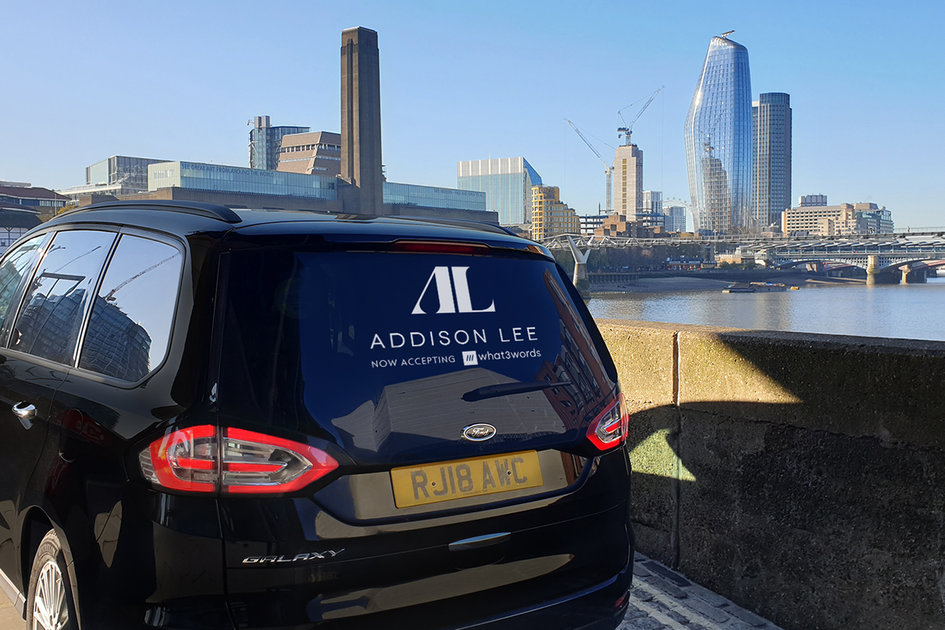 Addison Lee electric taxi
